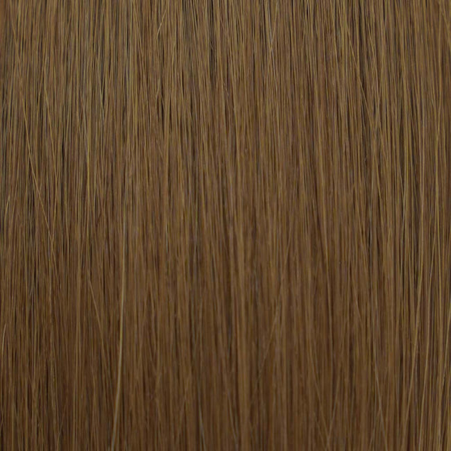 Hairlaya  Dark Blonde (#8) Hand-Tied Wefts Hair Extensions Double Drawn Color