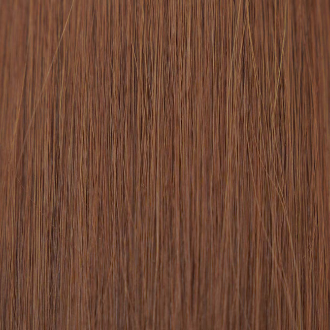 Hairlaya  Medium Auburn (#30) Hand-Tied Wefts Hair Extensions Double Drawn Color