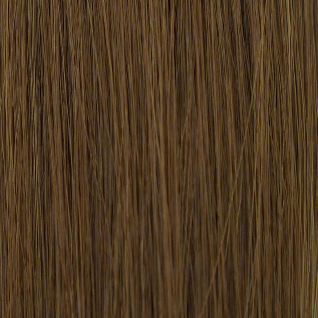 Hairlaya  Medium Brown (#6) Hand-Tied Wefts Hair Extensions Double Drawn Color
