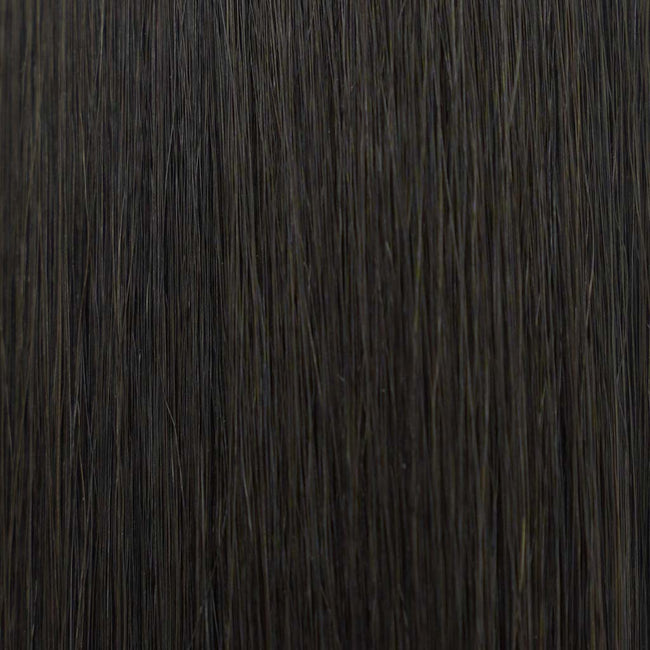 Hairlaya  Natural Black (#1B) Hand-Tied Wefts Hair Extensions Double Drawn Color