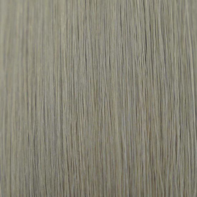 Hairlaya Silver Ash Hand-Tied Wefts Hair Extensions Double Drawn color