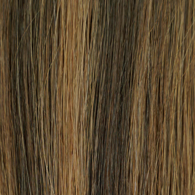 Darkest Brown/Dark Blonde(#2/8) Straight Tape-In Hair Extensions Double Drawn