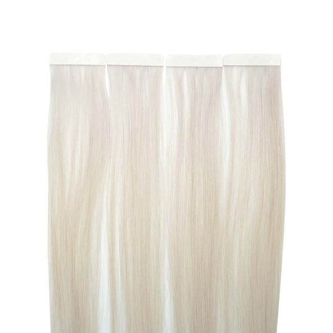 Icy Blonde (#60S)  Straight Tape-In Hair Extensions Double Drawn