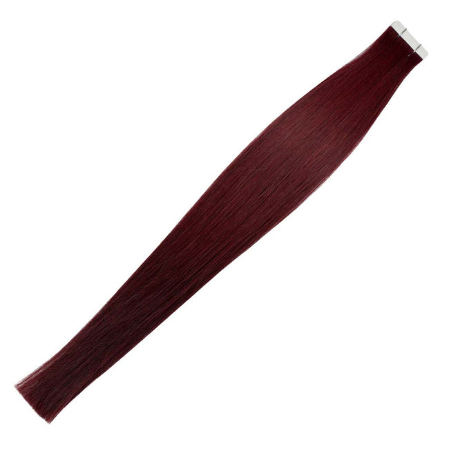 Merlot Straight (#34) Tape-In Hair Extensions Double Drawn View