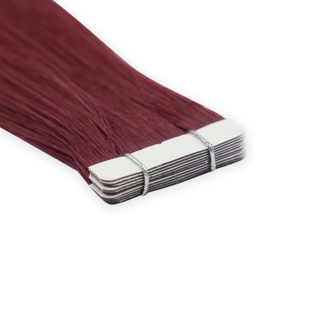 Merlot Straight (#34) Tape-In Hair Extensions Double Drawn Detail