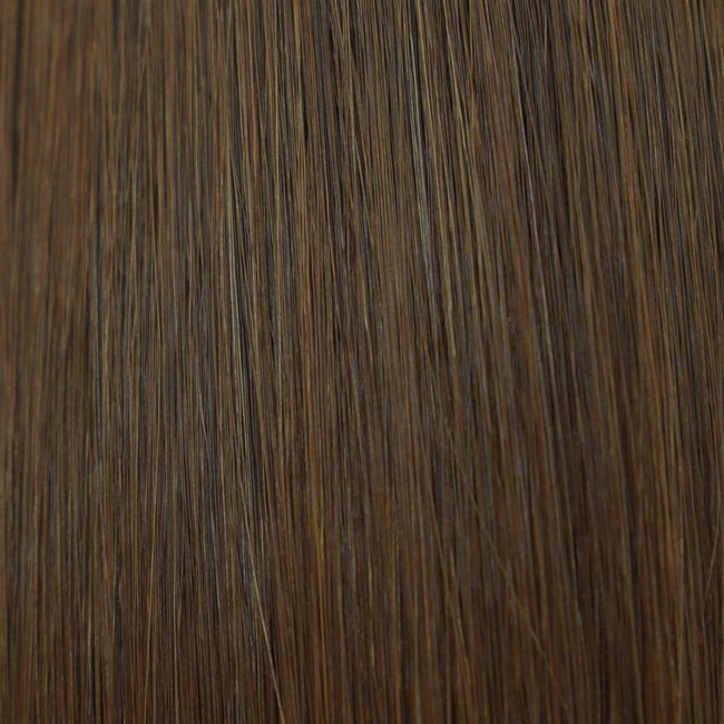 Brown (#3) Straight Tape-In Hair Extensions Double Drawn