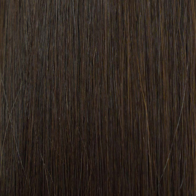 Hairlaya  Dark Brown (#4) Hand-Tied Wefts Hair Extensions Double Drawn Color