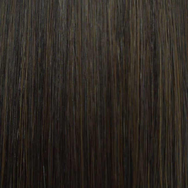 Hairlaya  Midnight Brown (#1C) Hand-Tied Wefts Hair Extensions Double Drawn Color