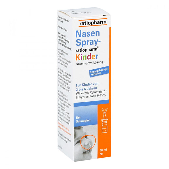 Nasenspray Ratiopharm Kinder (10 ml) Spray ohne Konservierungsstoffe / Spray nasal sin conservantes