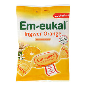 Em-eukal Bonbon, Ingwer-Orange, zuckerfrei
