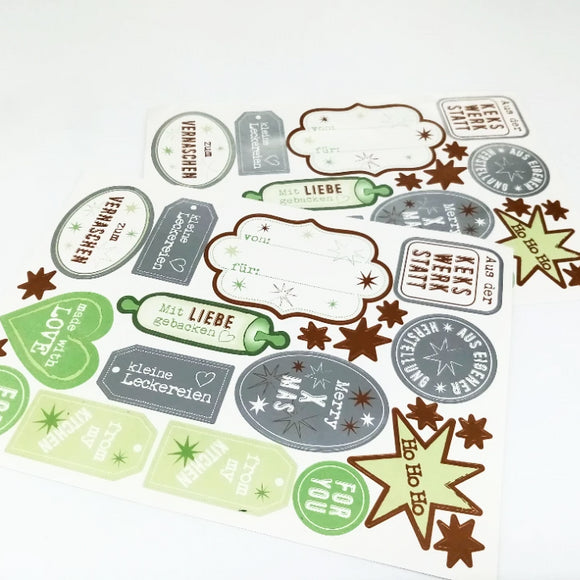 Sticker para navidad / Sticker Weihnachten Backen