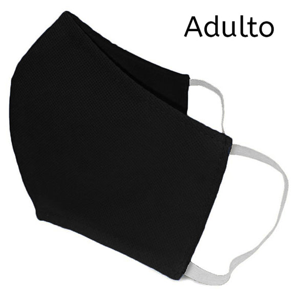 Adulto - Mascarillas Tnt Doble Capa Reutilizable - negro