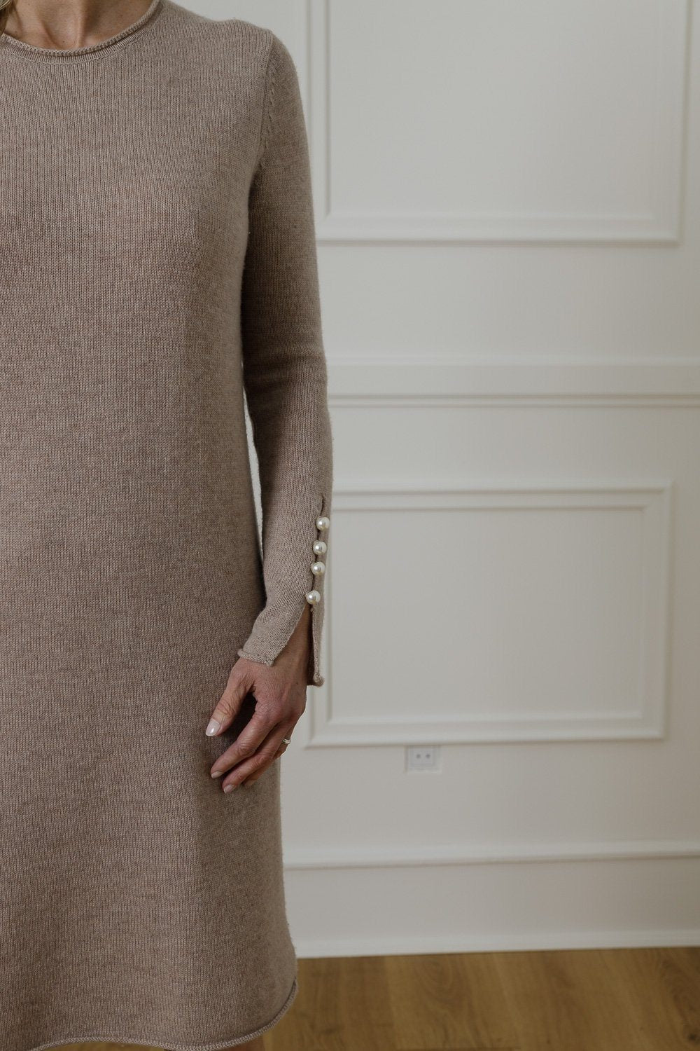 Abbelone Cashmere Dress – Stone Brown