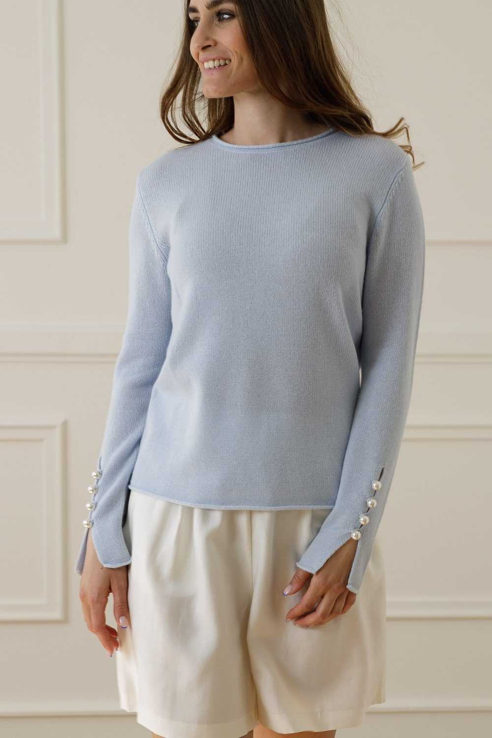 Abbelone Cashmere Sweater - Light Blue