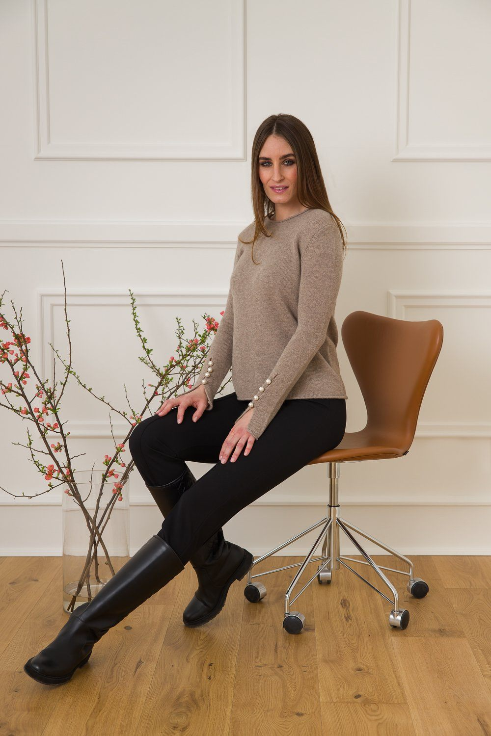 Abbelone Cashmere Sweater - Light Brown