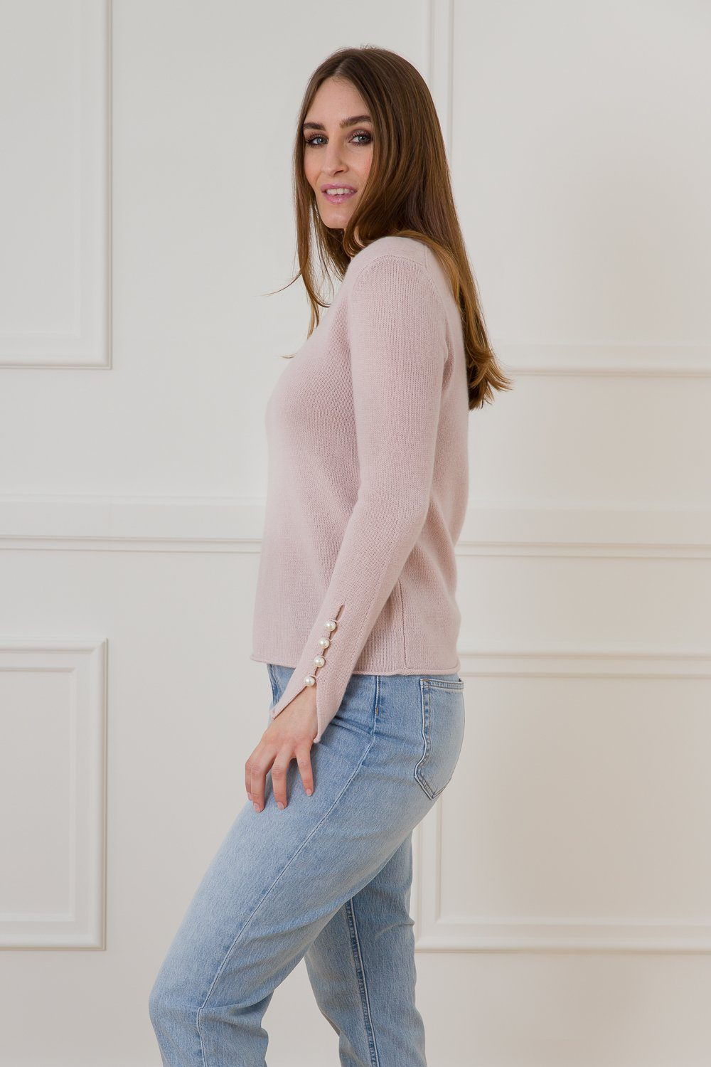 Abbelone Cashmere Sweater - Rose Dust