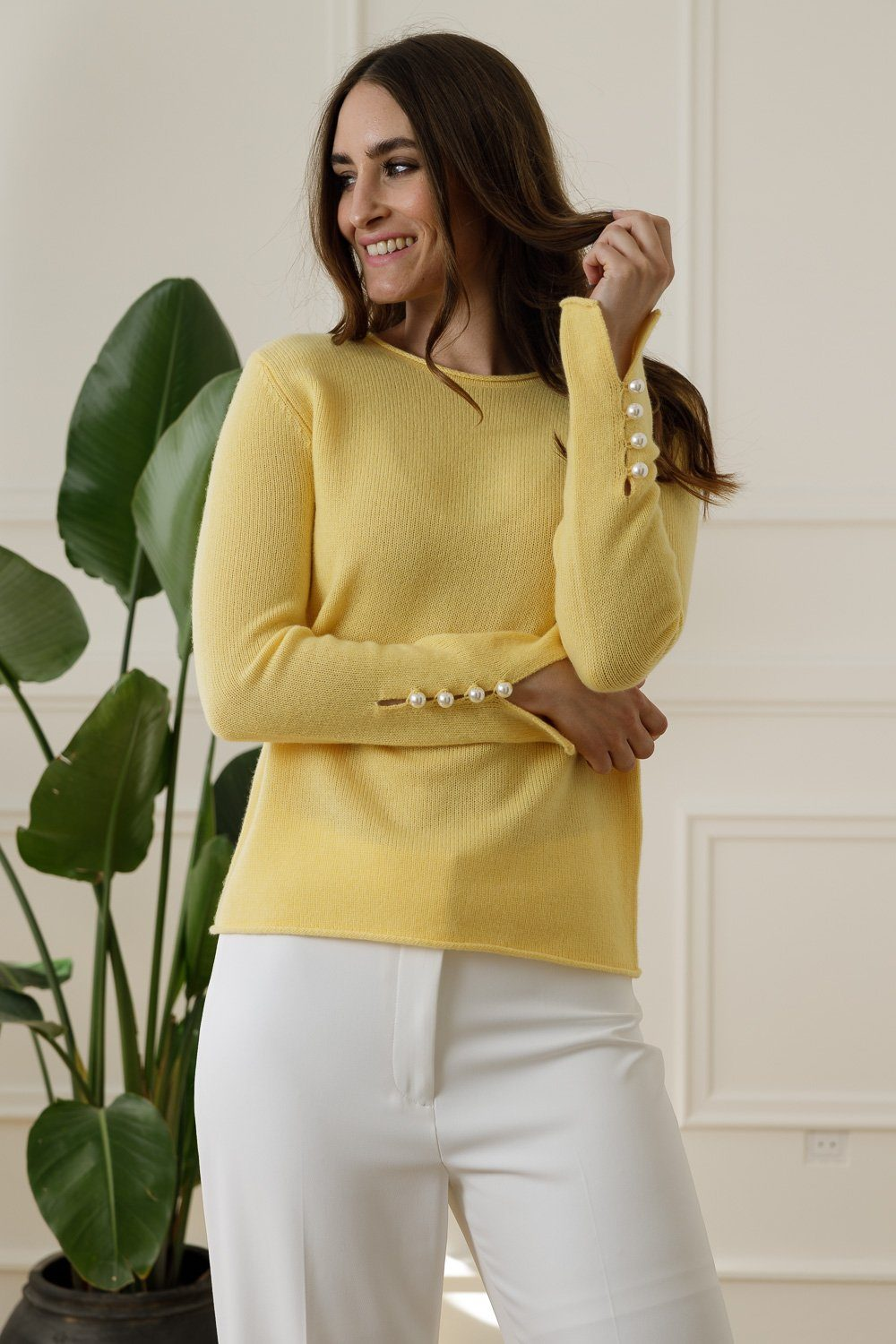 Abbelone Cashmere Sweater - Yellow