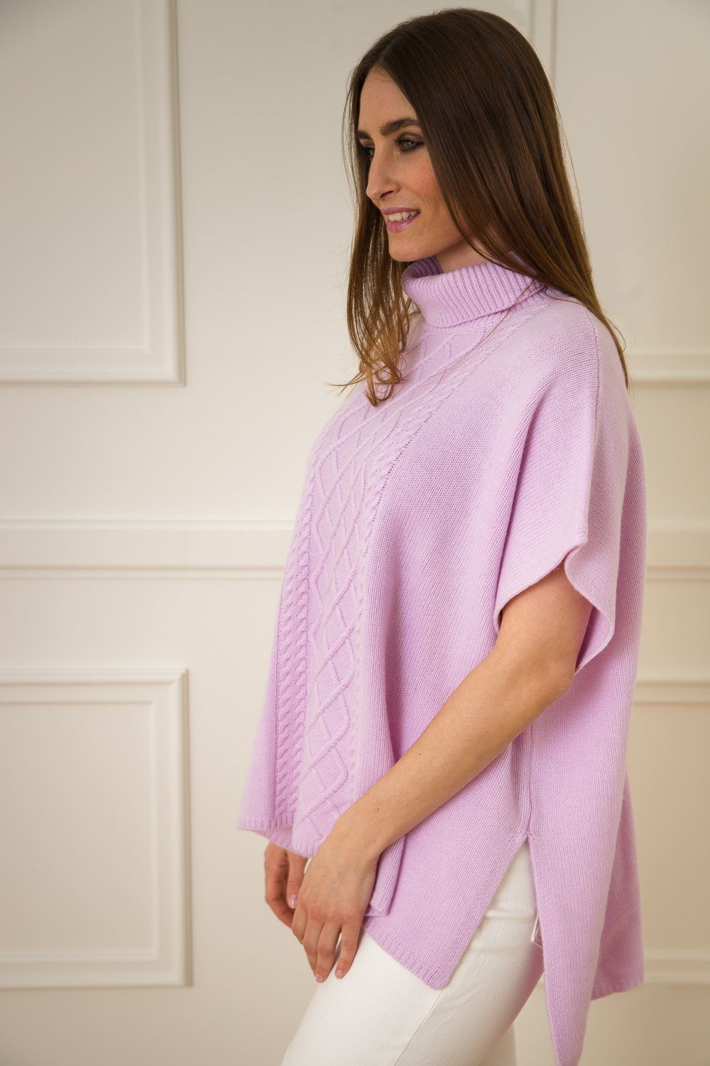 Cashmere Poncho - Hint Of Violet