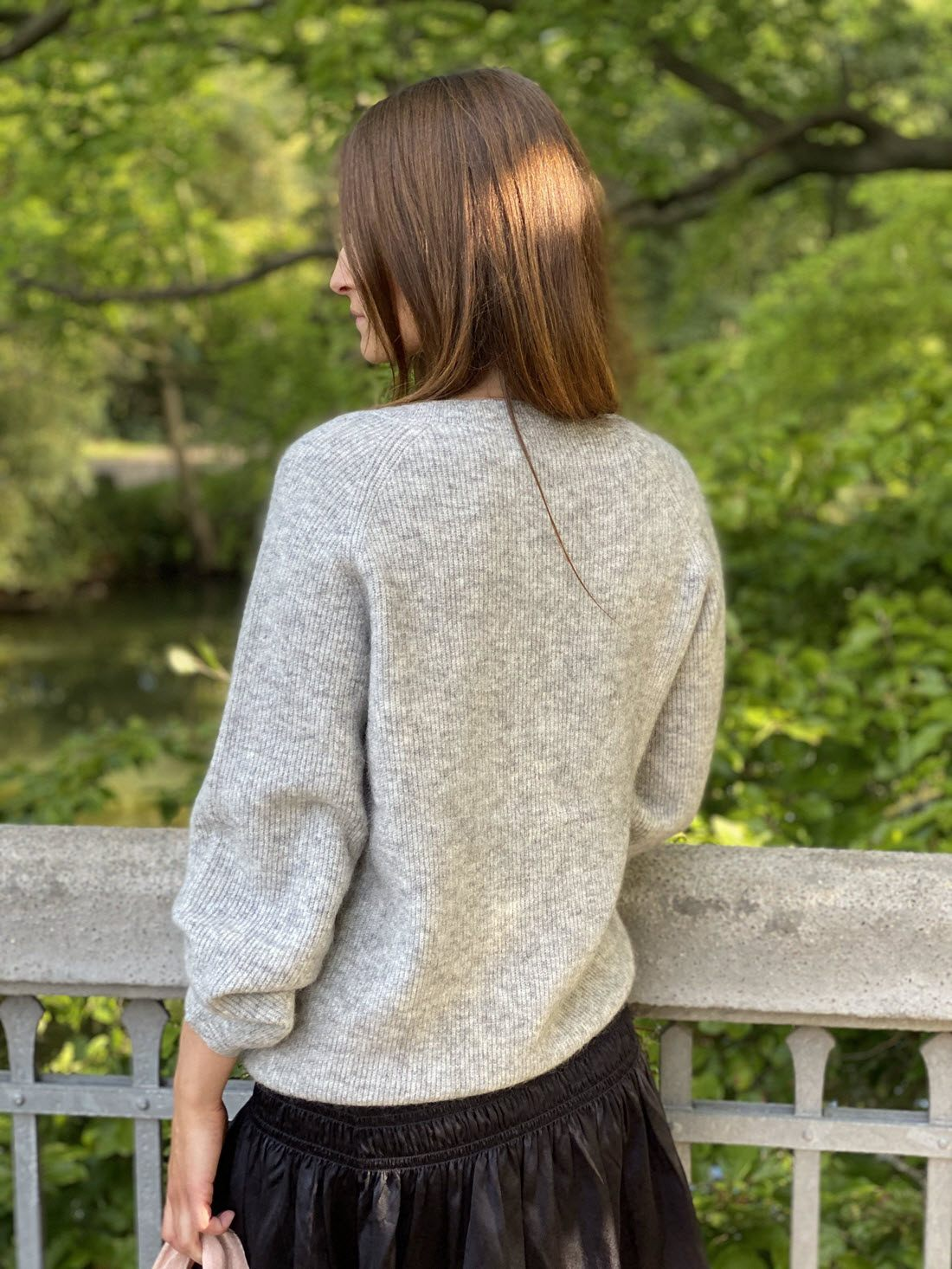 Diane Cardigan Med Perleknapper - Light Grey