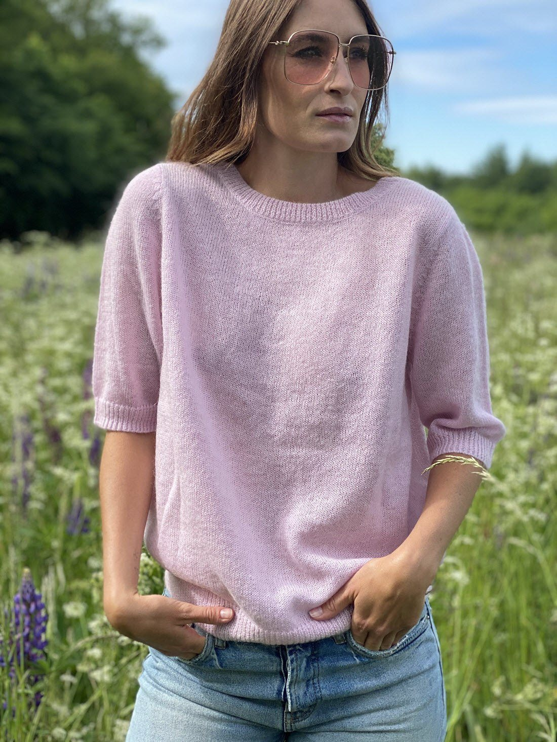 Gry Strik M. Sløjfer - Light Pink