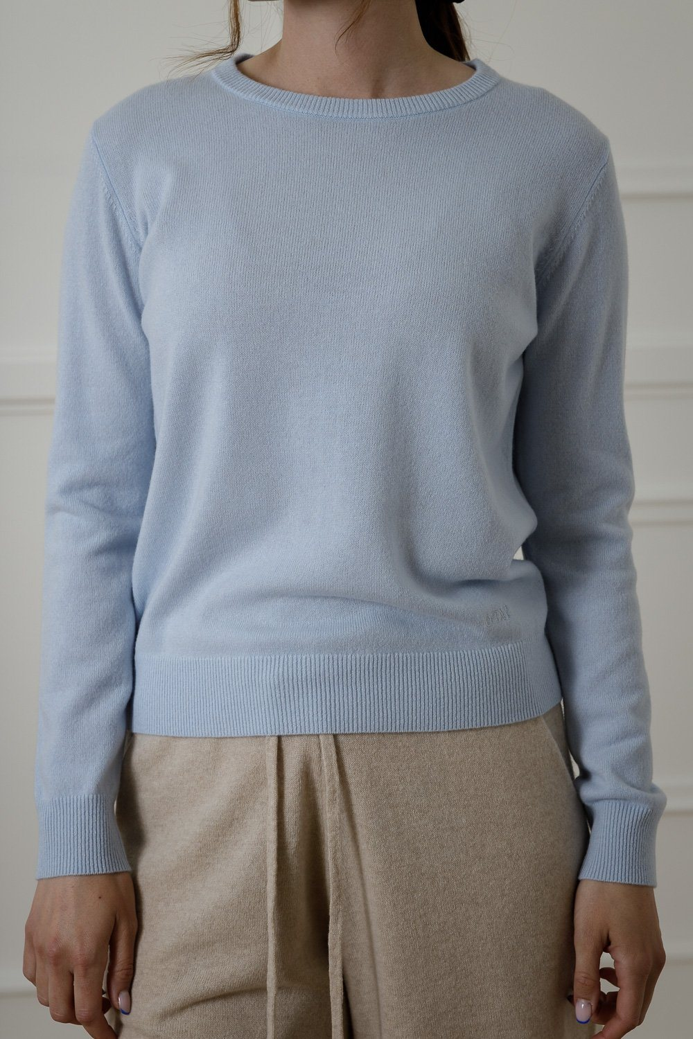 Johanne Cashmere Sweater - Light Blue