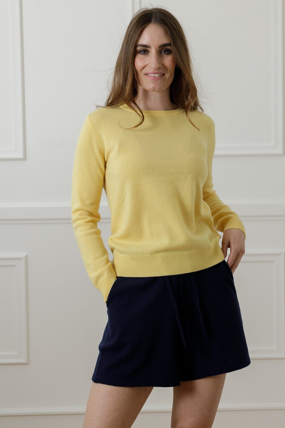 Johanne Cashmere Sweater - Yellow