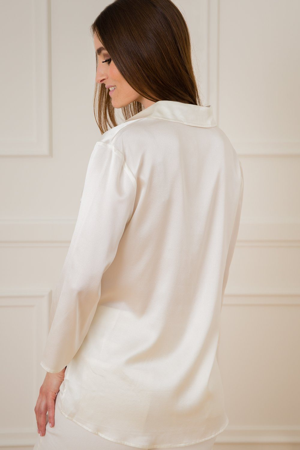 Karen Silk Shirt - Off White
