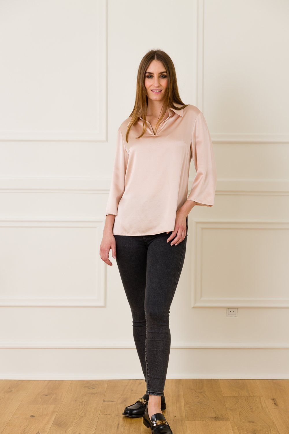 Karen Silk Shirt - Rose Dust