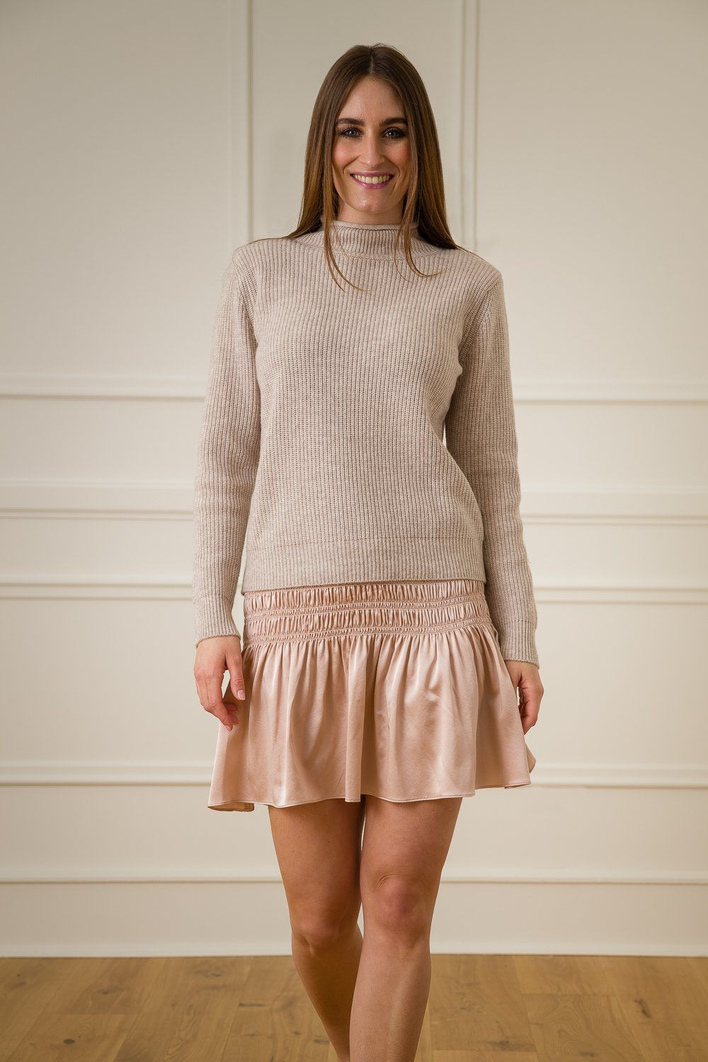 Kelly Silk Skirt - Rose Dust