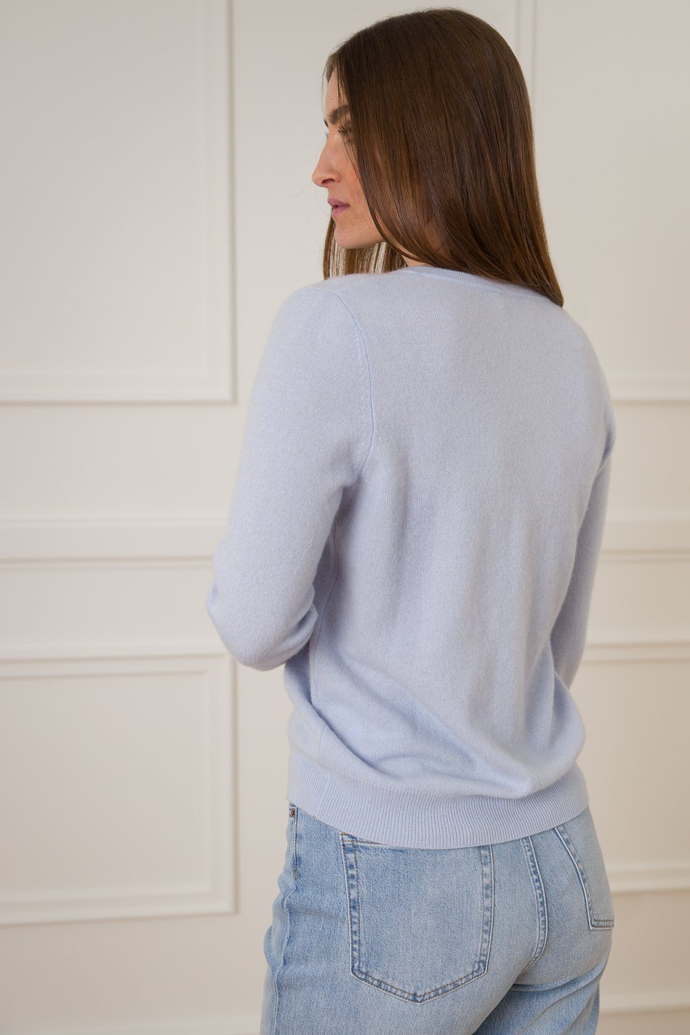 Lailabeth Cashmere Cardigan - Baby Blue