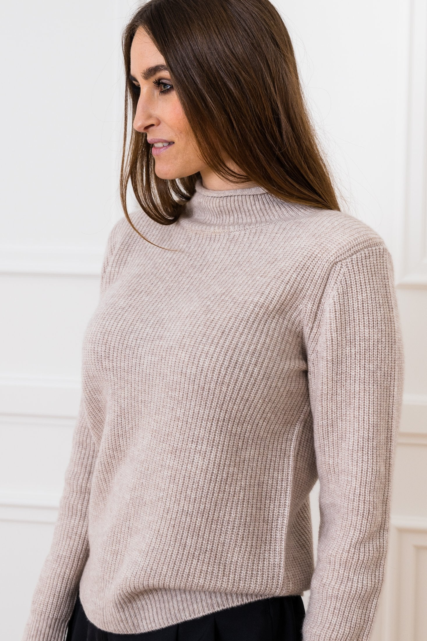 Lovisa Cashmere/Wool Sweater - Light Brown