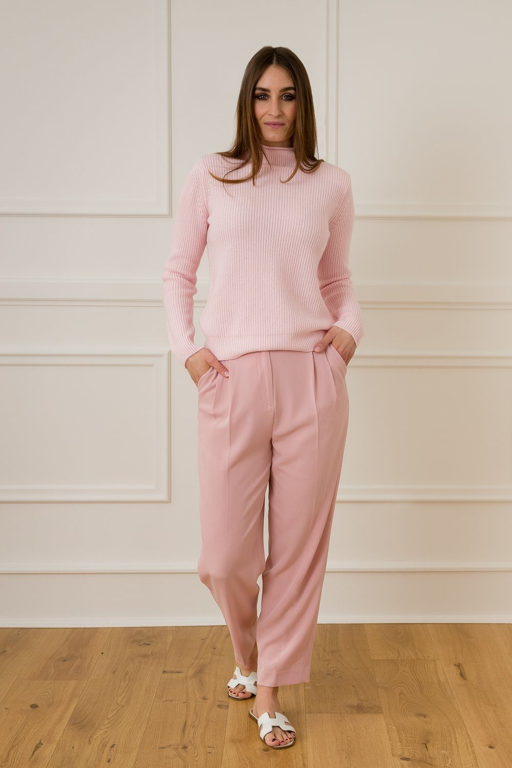 Lovisa Cashmere/Wool Sweater - Rose
