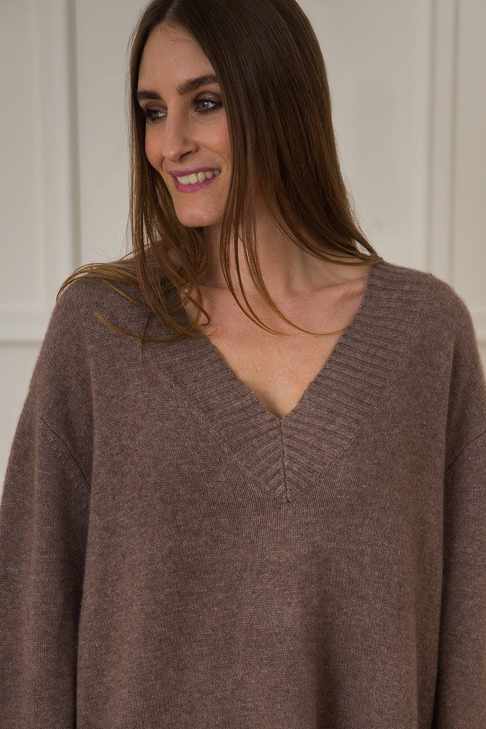 Luna Cashmere/Wool Sweater - Dark Coffee
