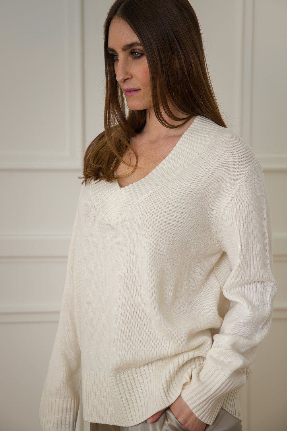 Luna Cashmere/Wool Sweater - Off White