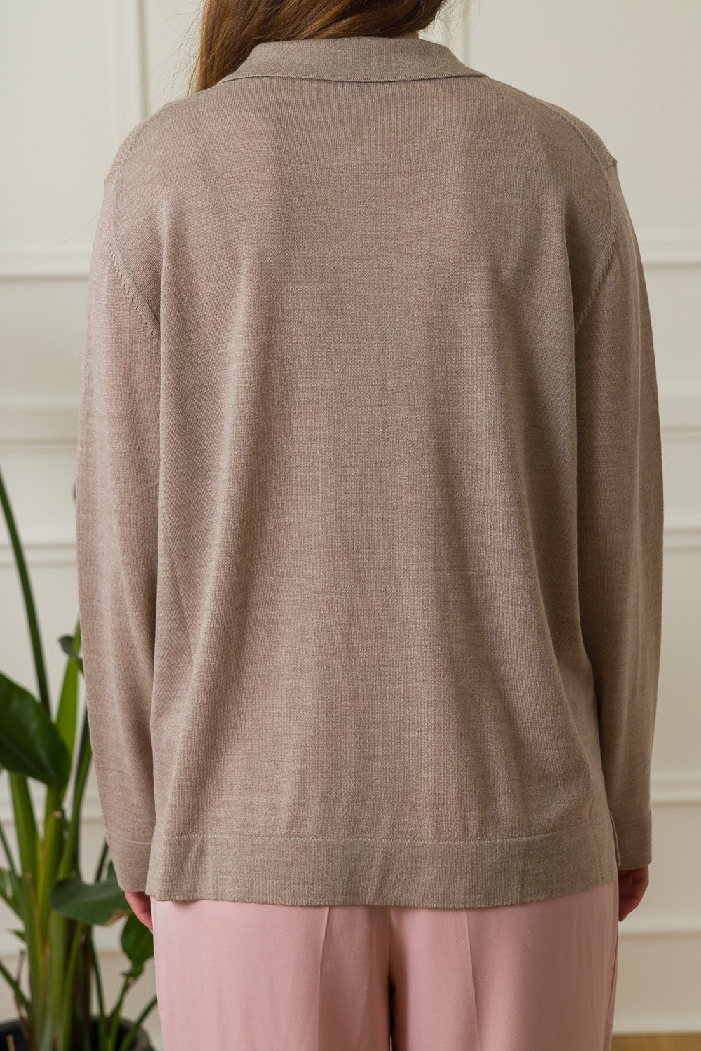 Martine Wool Sweater - Brown Melange