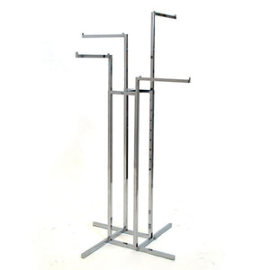 "4-Way - 16"" Straight Arms - Square Tube - Chrome"