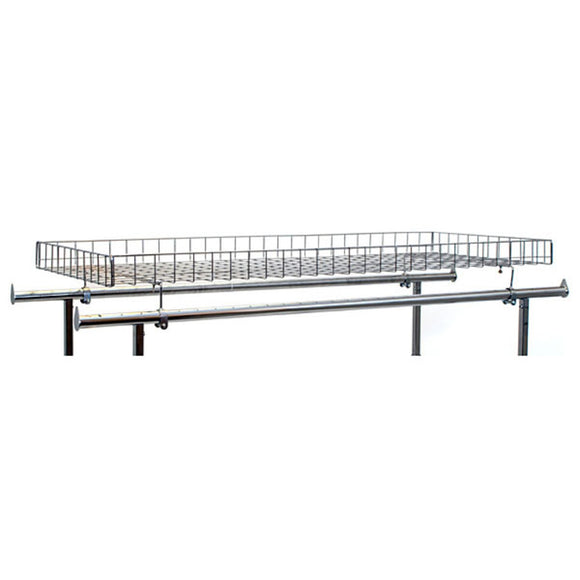 Add-On Wire Basket for Double Rail Rack - Chrome