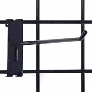 "Gridwall Hook 10"" - Black - 100/Carton"