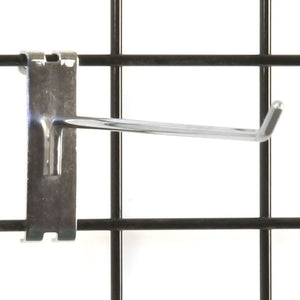 "Gridwall Hook 10"" - Chrome - 100/Carton"
