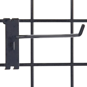 "Gridwall Hook 12"" - Black - 100/Carton"