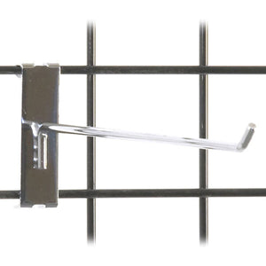 "Gridwall Hook 12"" - Chrome - 100/Carton"