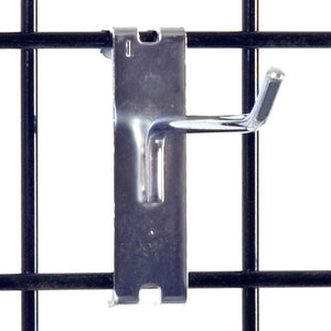 "Gridwall Hook 4"" - Chrome - 100/Carton"