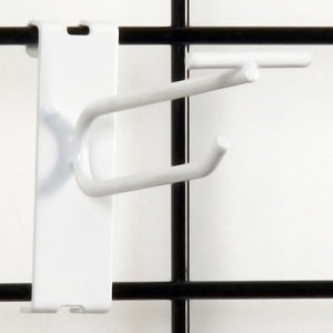 "Gridwall Scanner Hook 4"" - White - 100/Carton"