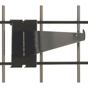 "Gridwall Shelf Bracket 10"" - Black - 25/Carton"