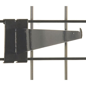 "Gridwall Shelf Bracket 12"" - Black - 25/Carton"