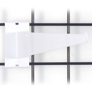"Gridwall Shelf Bracket 12"" - White - 25/Carton"