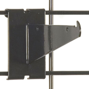 "Gridwall Shelf Bracket 6"" - Black - 25/Carton"