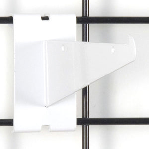 "Gridwall Shelf Bracket 6"" - White - 25/Carton"