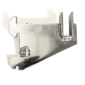 "Heavy Duty Hangrail Bracket - 3"" - 1"" Slots 2"" On Center - Chrome"