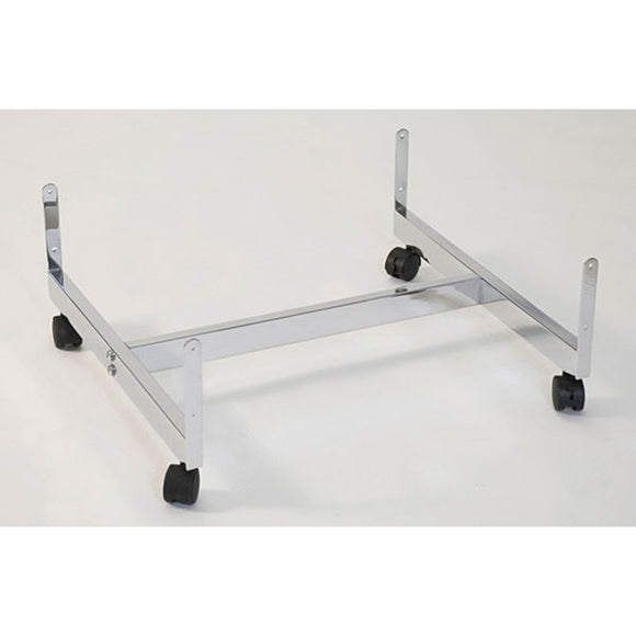H-Frame Gondola Grid Base - 3 Panel - Chrome
